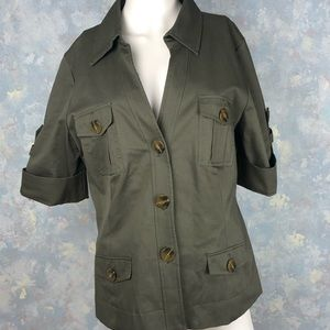 Kenneth Cole Green Military Jacket • 14